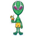 alien summer vacation vector image vector image