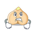 angry chickpeas mascot cartoon style vector image vector image