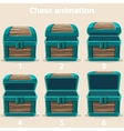 animation wood Treasure chest vector image vector image