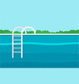 background of swimming pool flat vector image