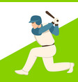 baseball player flat style vector image vector image