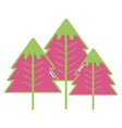 beauty natural pine tree design vector image vector image