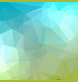 blue green geometric rumpled triangular low poly vector image vector image