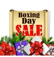 Boxing day tag vector image