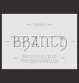 branch alphabet letters vector image