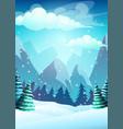 bright cartoon winter vector image vector image