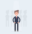 businessman in spotlight isolated on background vector image