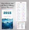 calendar usa holidays blue vector image