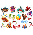 carnival accessories set vector image vector image