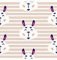 cheerful lama baby beige striped seamless vector image vector image