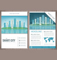 city brochure with day and night urban landscape vector image vector image