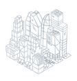 city business center skyscrapers quarter square vector image