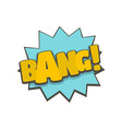comic boom bang icon flat style vector image vector image
