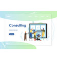 consulting website landing page design vector image vector image
