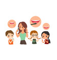 dental and orthodontic daily life vector image