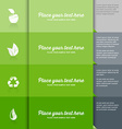 Ecology icons on green tiled background vector image vector image