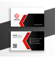 elegant red business card with geometric shapes vector image vector image