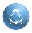 glass chemistry flask icon outline style vector image