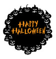 halloween funny horror pumpkin greeting card vector image vector image