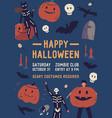 happy halloween flat poster template vector image vector image
