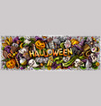 happy halloween hand drawn cartoon doodles vector image