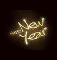 happy new year glitter greeting card vector image vector image