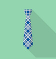 hipster tie icon flat style vector image vector image