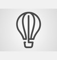 hot air balloon icon sign symbol vector image