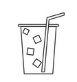 isolated cold soda outline vector image vector image