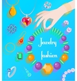 Jewelry fashion poster vector image vector image