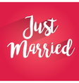Just Married Lettering Design vector image vector image