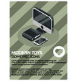 modern toys color isometric poster vector image