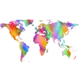 Motley world map vector image