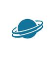 planet globe icon design vector image vector image