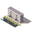 public residential building isometry isometric vector image vector image