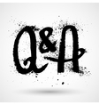 Questions and answers symbol - grunge letters vector image vector image