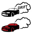 race car drifting vector image vector image