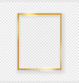 realistic shining metal picture frame on a wall vector image vector image