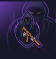 reaper soldier mascot esport logo vector image vector image