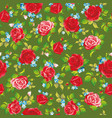 red natural roses seamless background vector image vector image