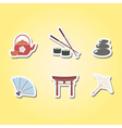 set of color icons with japanese symbols vector image vector image
