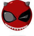 smile angry vector image