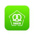 snack icon green vector image