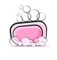 soap cartoon foams doodle style vector image