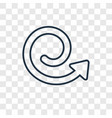 spiral arrow concept linear icon isolated on vector image