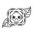 sticker flower kawaii cartoon natural vector image vector image