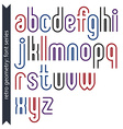Stylish lowercase letters set with straight vector image vector image
