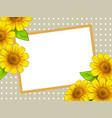 sunflower border frame vector image vector image