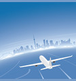 toronto skyline flight destination vector image