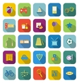 Toy color icons with long shadow vector image vector image